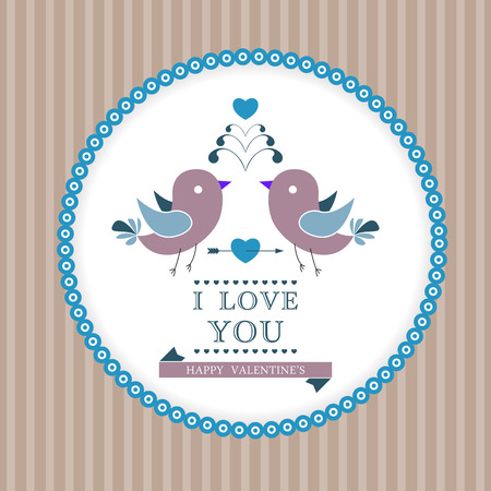 Happy Valentines Day invitation card. I Love You. Perfect as invitation or announcement. Vector