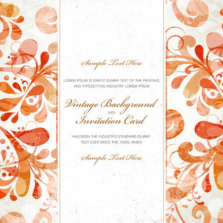 Vintage styled card Vector