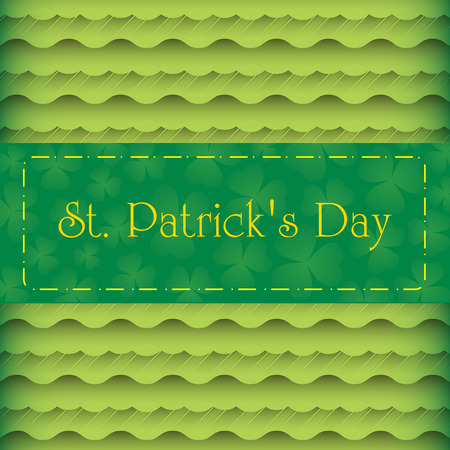 St. Patrick`s day invitation card design.  Vector