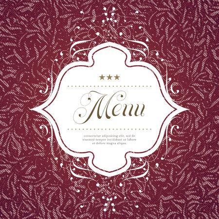 traditional events: Restaurant menu cover design.  Illustration