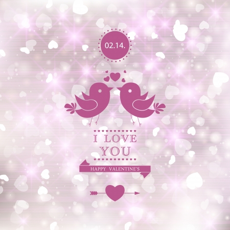 Elegant romantic background. I Love You. Vector