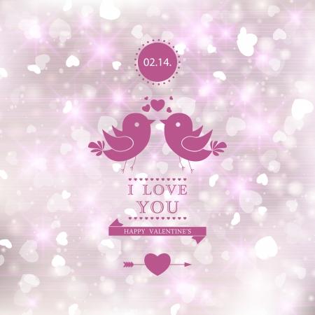 Elegant romantic background. I Love You.