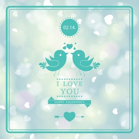Elegant invitation card design. I Love You.  Vector