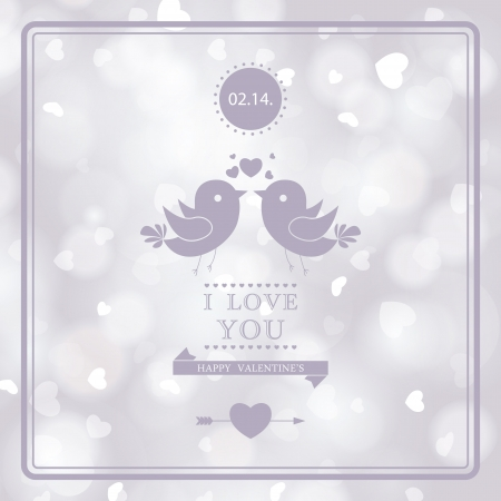 february 14: Romantic invitation card design. I Love You. Perfect as invitation or announcement.