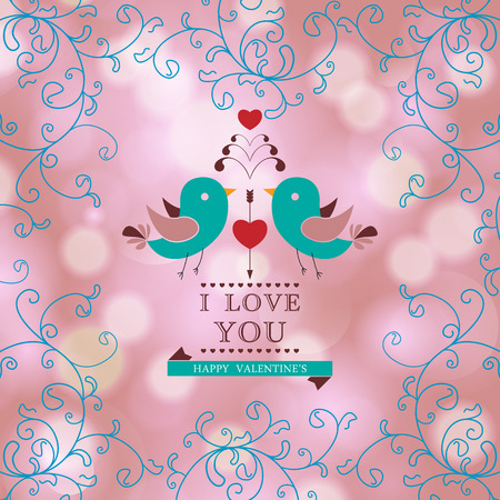Valentine's day invitation card. I Love You. Perfect as invitation or announcement. Vector