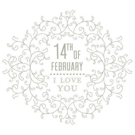 Wedding invitation card. I Love You. Perfect as invitation or announcement. Vector