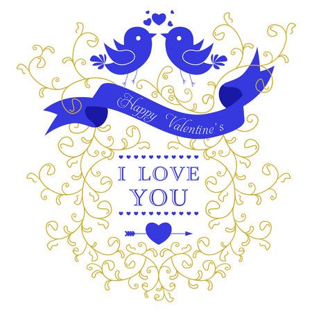 Wedding invitation card. I Love You. Perfect as invitation or announcement.