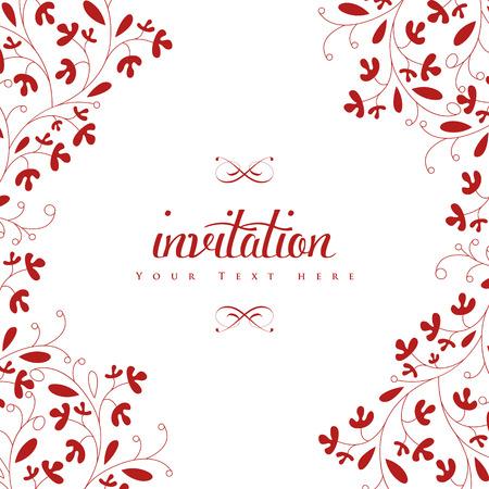 Bruiloft Uitnodigingskaart. Perfect als uitnodiging of aankondiging.