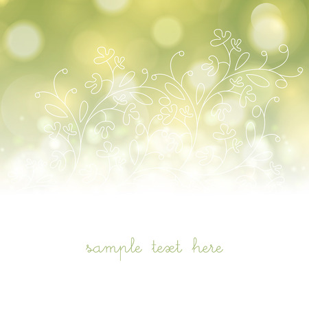 Template frame design for greeting card with white flowers. Vector