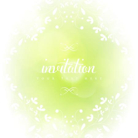 Template frame ontwerp voor wenskaart met witte bloemen. Stock Illustratie