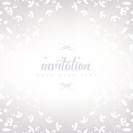 Wedding styled card with floral ornament design. Perfect as invitation or announcement. Vector