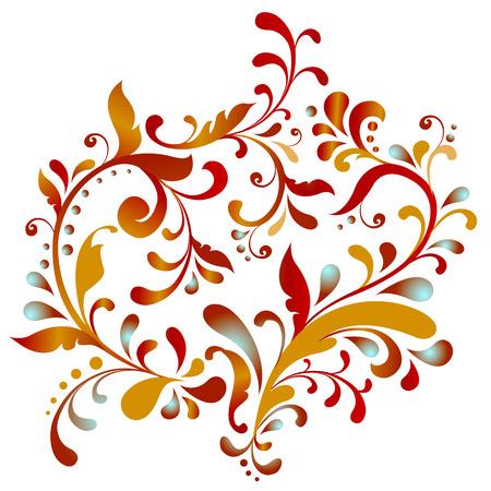 Floral heart. Vector