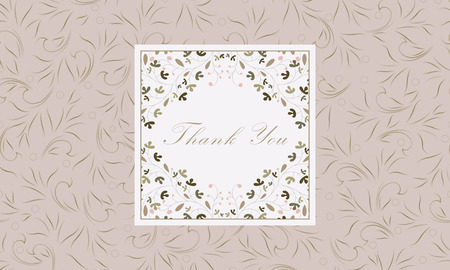 Thank you card. Perfect as invitation or announcement. Vector