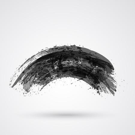 Robusto cepillo acaricia pincel y tinta. Foto de archivo - 25991720
