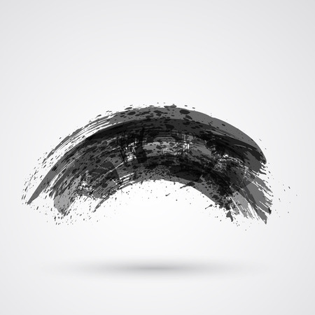 Figured brush strokes brush and ink. Stock Illustratie