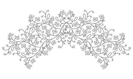 Vintage decorative floral background with flower. Vector