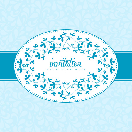 leaflets: Wedding card or invitation with floral ornament background. Perfect as invitation or announcement.
