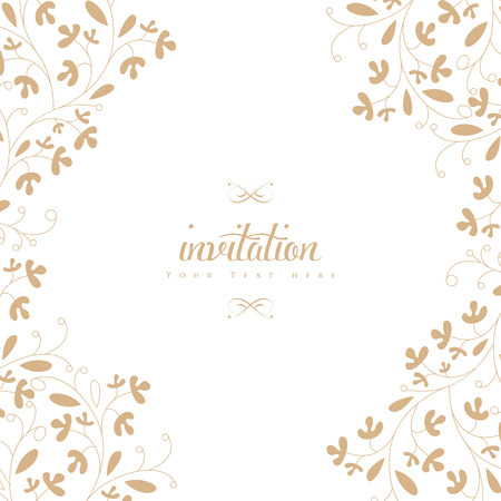 Trouwkaart of uitnodiging met bloemen ornament achtergrond. Perfect als uitnodiging of aankondiging. Stockfoto - 26206744