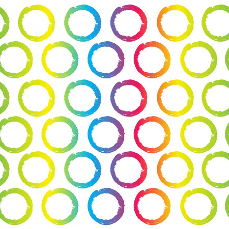 Seamless pattern multicolored circles with grunge effect . Vector
