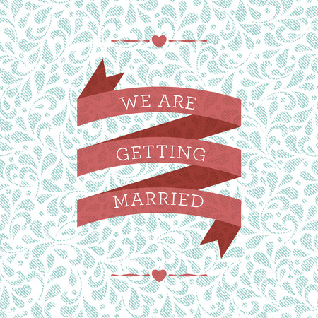 getting married: Wedding card or invitation with floral ornament background. Perfect as invitation or announcement.
