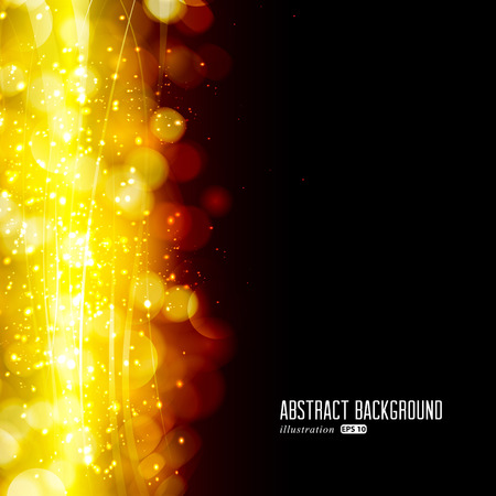 Festive background with defocused lights.
