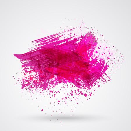 Stevig penseelstreken penseel en inkt. Stock Illustratie