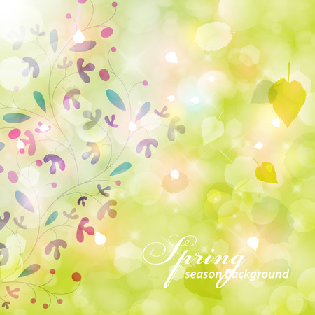 Eegant spring background. Vector
