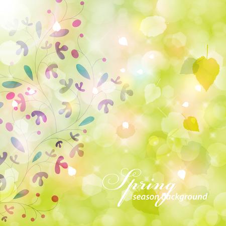 Eegant spring background. Vector
