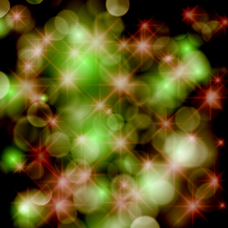 Festive background with defocused lights. Vector
