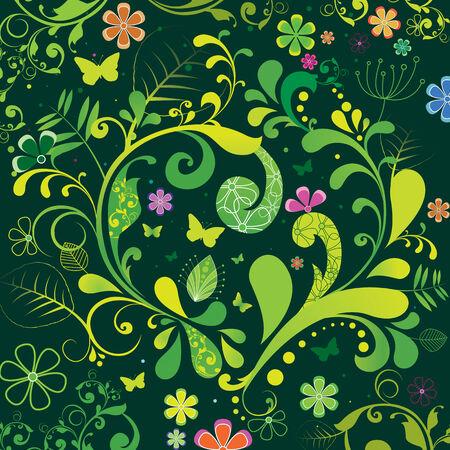 cute spring illustration background Vector