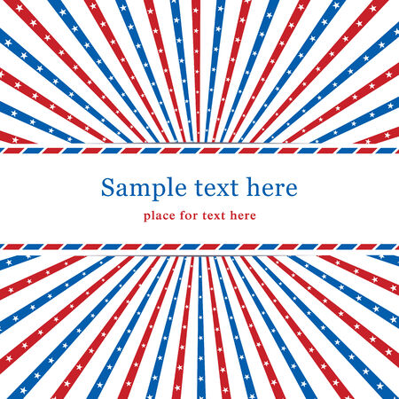 Beautiful american flag background with stars and stripes symbolizing 4th july independence day Vector
