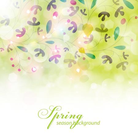Elegant spring background. Vector