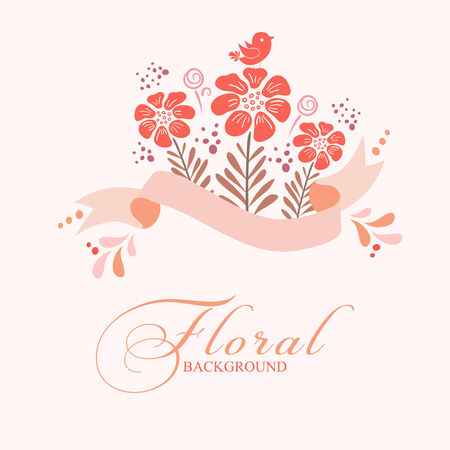 Bridal shower invitation card. Vector