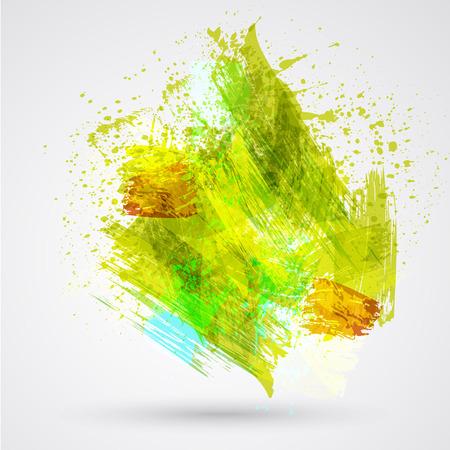 Figured brush strokes brush and ink. Vector Illustration