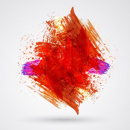 figured: Figured brush strokes brush and ink. Illustration