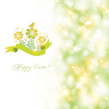 Elegant spring Easter card. Illustration