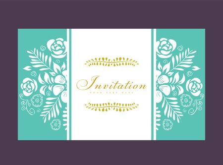 Trouwkaart of uitnodiging met bloemen ornament achtergrond. Perfect als uitnodiging of aankondiging. Stockfoto - 26865999