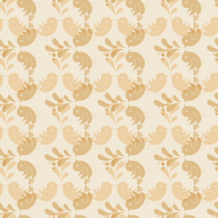 drawing dove: Seamless pattern with birds.