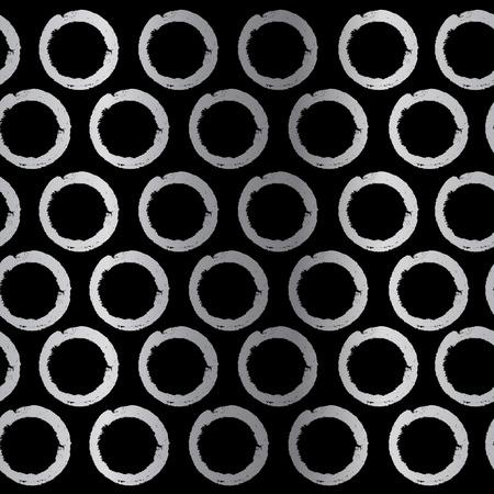 manic: Seamless abstract circles. Illustration