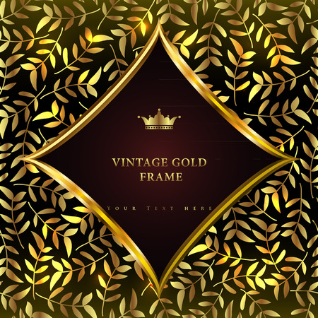 Luxury vintage background. Perfect as invitation or announcement. Vector