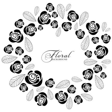 rosas negras: Fondo de la vendimia con las rosas. Vectores