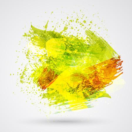 abstract vector: Kleur penseelstreken en inkt. Abstract vector design element. Stock Illustratie