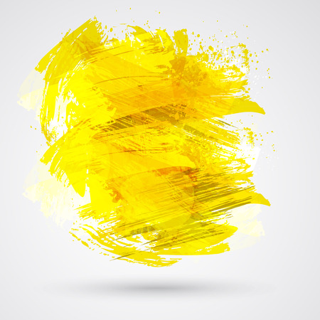 Gold brush strokes and ink. Abstract vector design element. Vector