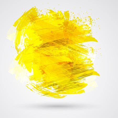 abstract vector: Goud penseelstreken en inkt. Abstract vector design element.