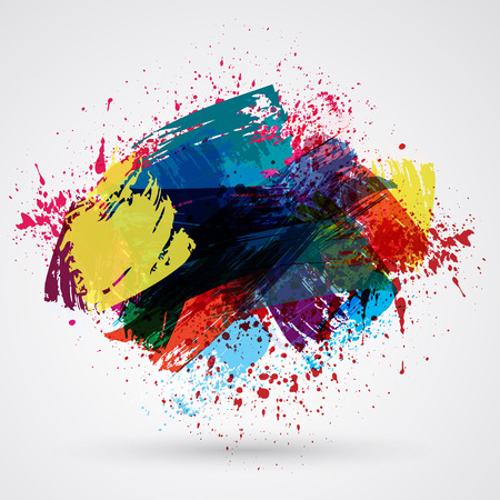 Cute brush strokes and ink. Abstract design element. Stock Illustratie