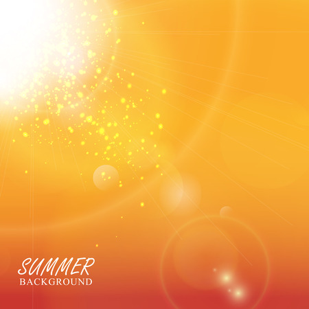 burning time: Sun with lens flare. Summer background.