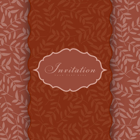 Vintage styled card with floral ornament background.  Vector