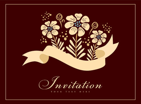 Vntage styled card. Perfect as invitation or announcement. Vector