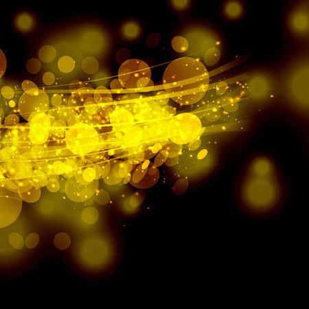 Gold colour bokeh abstract light background.   Vector