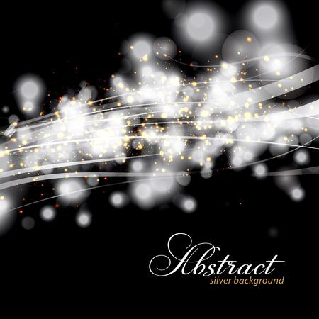 bodas de plata: Destellantes luces de fondo abstracto de plata. Vectores